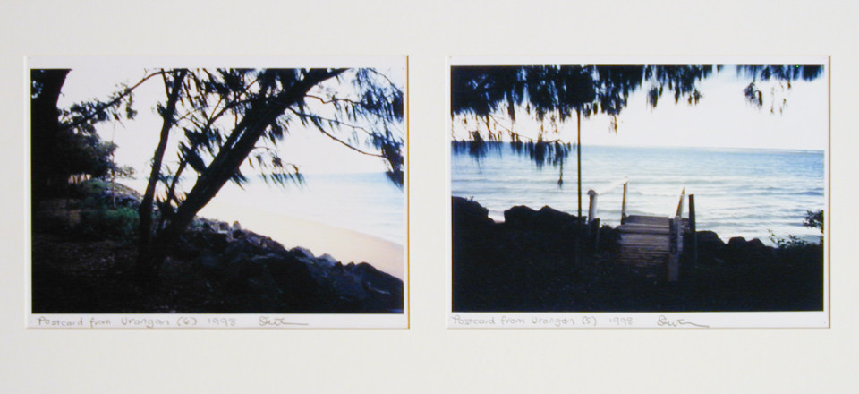 Destiny Deacon Postcard from Urangan  (6) (5), 1998; 2 colour laser prints; 21.2 x 29.8 cm; Edition of 15; enquire