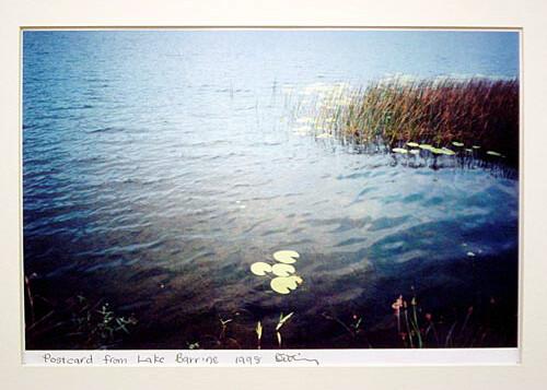 Destiny Deacon Postcard from Lake Barrine, 1998; colour laser print; 29.7 x 42.2 cm; Edition of 15; enquire