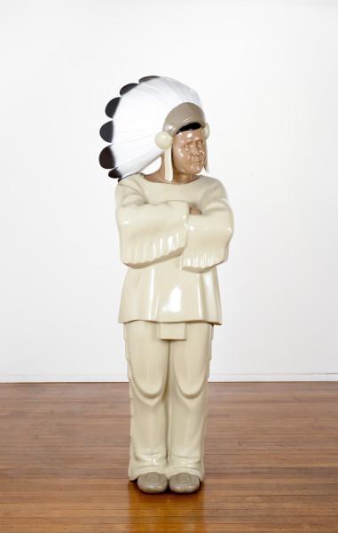 Michael Parekowhai The Brothers Grimm 10, 2009; automotive paint on fibreglass; 163 x 52 x 49 cm; enquire