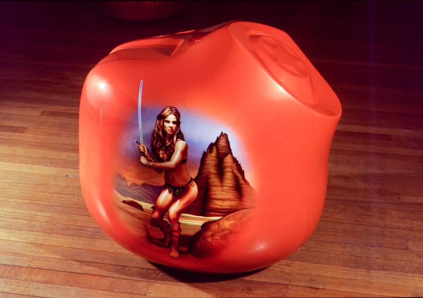 Patricia Piccinini Amazon, 2002; fiberglass and automotive paint; 90 x 80 x 80 cm; enquire