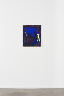installation view; Tom Polo where do you go, when no one knows, 2021; acrylic and Flashe on canvas; 60 x 50 cm; enquire