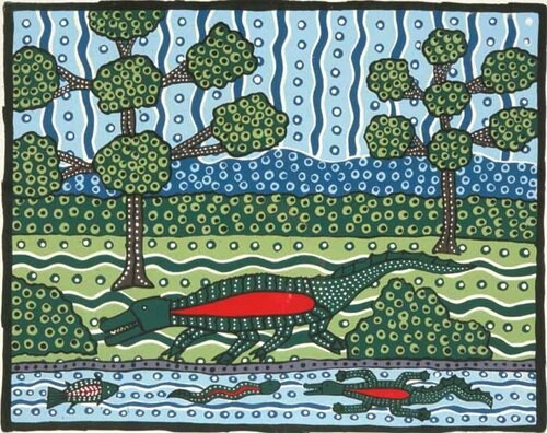 Robert Campbell Jnr Crocodile, 1990; Silkscreen on paper; 47 x 60 cm; enquire