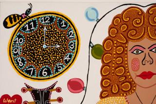 Kaylene Whiskey Tina Time (detail), 2020; Acrylic on linen; 122 x 152 cm; enquire