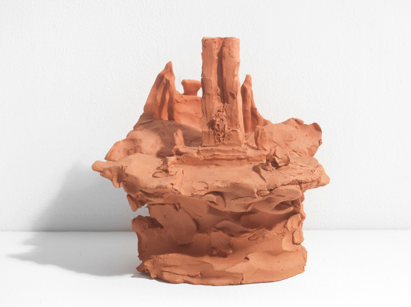 Linda Marrinon View of Sidney Myer Music Bowl, Melbourne, 1998; from the series Sculpture For The Home; Terracotta; 18 x 19 x 17 cm; enquire