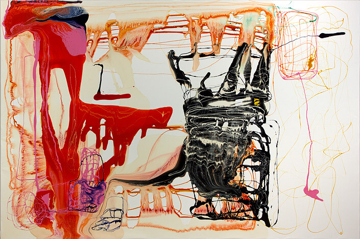 Dale Frank Perpetually shivering there was little luck, 2012; varnish on canvas; 200 x 300 cm; enquire