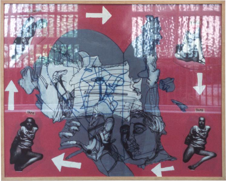 Gareth Sansom Pink performance, 1976; mixed media on cardboard; 82 x 102 cm; enquire