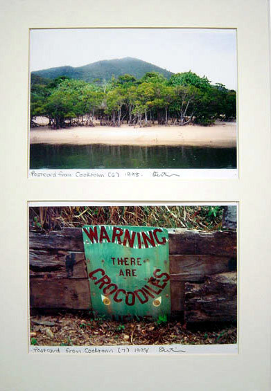 Destiny Deacon Postcard from Cooktown 6 & 7, 1998; 2 colour laser prints; 21 x 29.7 cm; Edition of 15; enquire