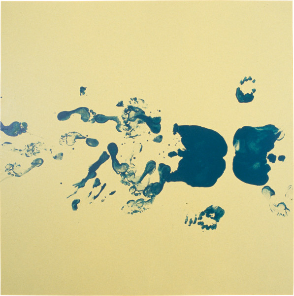 Dale Frank Self Portrait (Double Bum Print) In The Post Keating Era, 1996; varnish on acrylic on linen; 200 x 200 cm; enquire