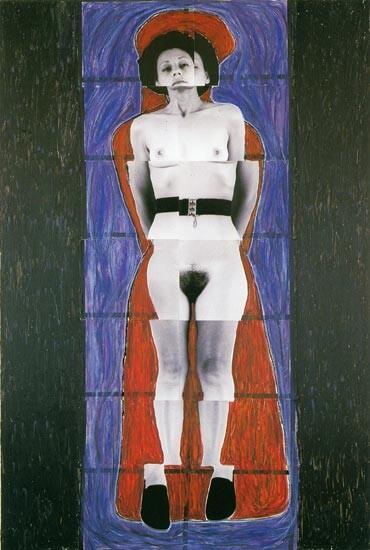 Julie Rrap Persona and Shadow: Senex, 1984; cibachrome print; approx. 194 x 105 cm; Edition of 9 + 2 A/Ps; enquire