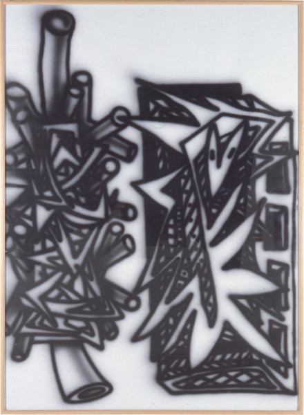 Howard Arkley Lace-Lanced, 1984; synthetic polymer on rag paper; 110 x 150 cm; enquire