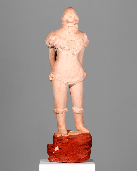Linda Marrinon Horserider with pageboy, 2007; tinted plaster; 77 x 22 x 15 cm; enquire