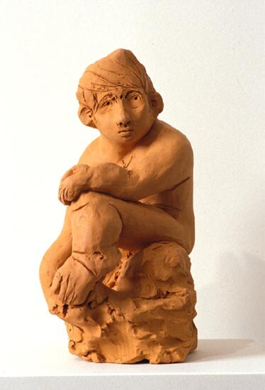 Linda Marrinon Seated figure with Clouds, 1994; terracotta; 33.5 cms high; enquire