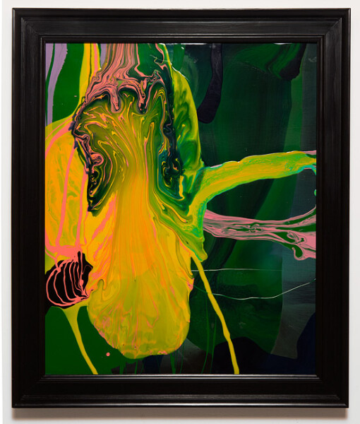 Dale Frank Conservative Institutional Beauty #1, 2013; Varnish on canvas; 87 x 74 cm; (framed); enquire