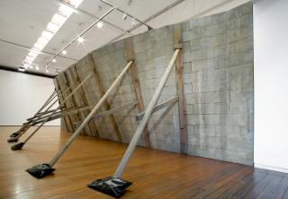 Callum Morton Monument #23: Slump, 2009; polyurethane, epoxy resin, fiberglass, sand cement, timbre, acrylic paint; 260 x 960 x 270 cm; enquire