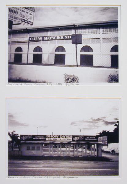 Destiny Deacon Postcard from Cairns (1) (2), 1998; 2 black & white laser prints; 21 x 29.8 cm; Edition of 15; enquire