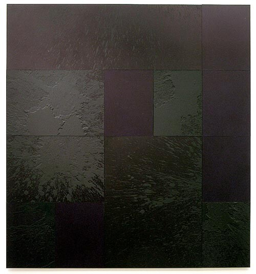 Lindy Lee Clouds Forming, Rain Falling, 2006; acrylic, oil, wax on board; 12 panels, 162cm x 150cm; enquire