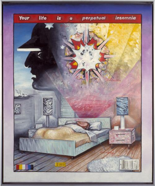 Juan Davila Sleep, 1985; oil on canvas; 60 x 50 cm; enquire