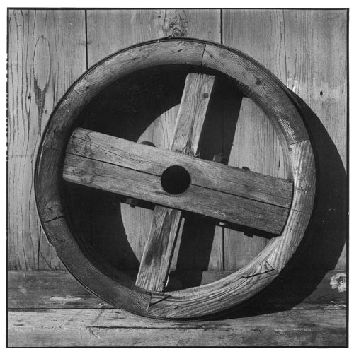 Bill Culbert Wood wheel with cross, 2002; Edition of 25; enquire