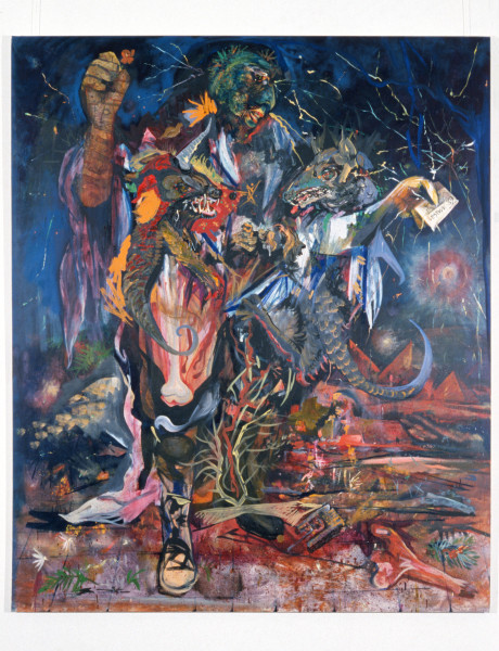 Victor Rubin Lest We Forget… the darkest hour, 1989; oil on primed linen; 199 x 167.5 cm; enquire