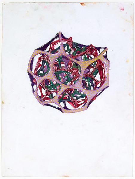 Rohan Wealleans one point growth, 2008; gouache on paper; 30 x 23 cm; 48.5 x 40cm (frame); enquire