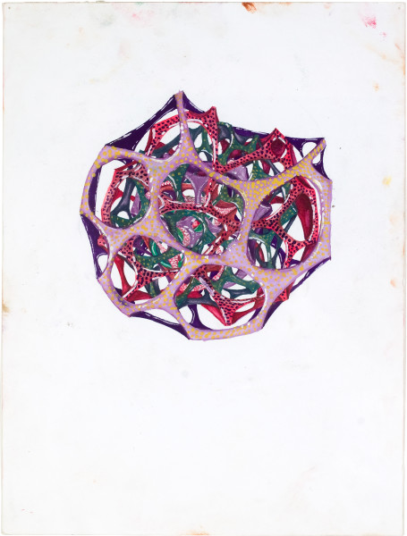 Rohan Wealleans one point growth, 2008; gouache on paper; 30 x 23 cm; 48.5 x 40cm (frame); enquire