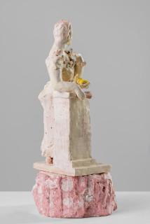 Linda Marrinon Woman with fan, 2020; terracotta; 36 x 16 x 16 cm; enquire