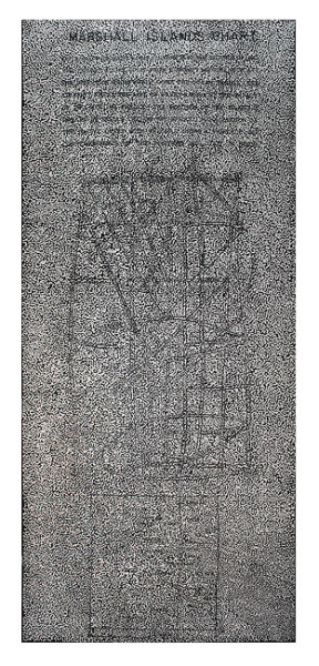 Daniel Boyd untitled (TI3) , 2015; oil and archival glue on linen; 487 x 213 cm; enquire