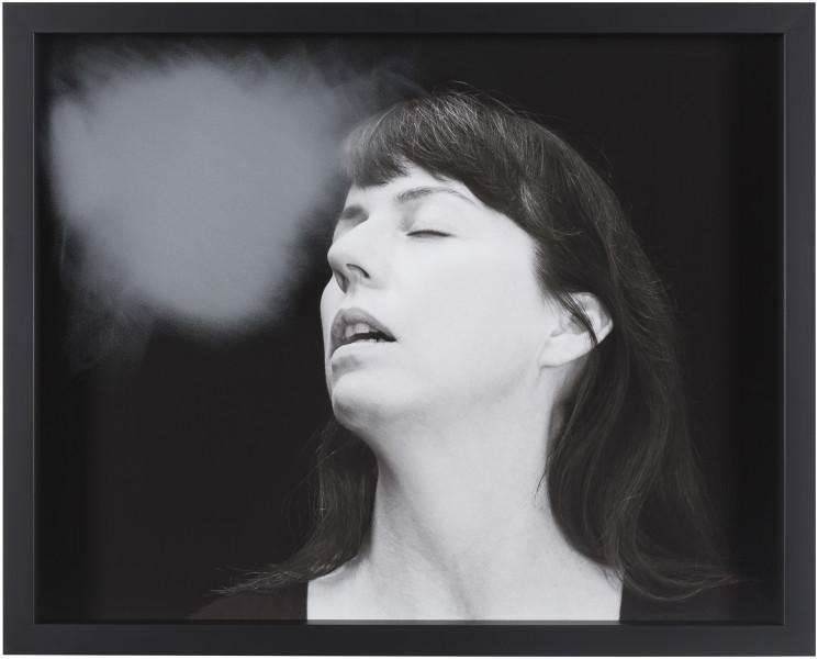 Julie Rrap Blow Back #28, 2018; digital print and handground glass; 52 x 64 cm; Edition of 3 + AP 1; enquire