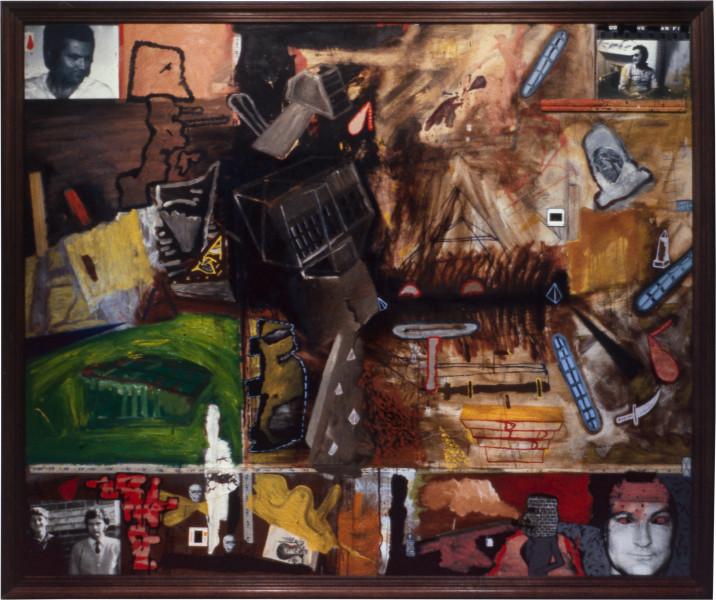 Gareth Sansom Mohawk, 1982; mixed media on hardboard; 152.5 x 183 cm; enquire