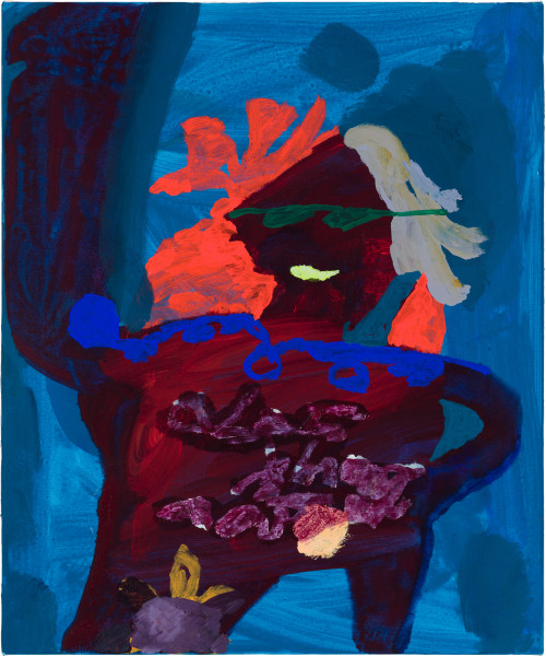 Tom Polo Magic Man (Optical Illusion), 2020; acrylic and Flashe on canvas; 60 x 50 cm; enquire