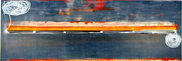 John Firth-Smith Fishing, 2001; Oil on linen; 4 ft x 12 ft; enquire