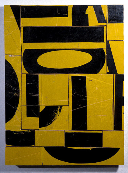 Rosalie Gascoigne Memorial, 1998; retro-reflective road sign on wood; 39.5 x 25 cm; enquire