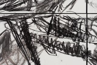 Pierre Mukeba Insomnia (detail), 2021; charcoal on archival paper; 120 x 210 cm; enquire