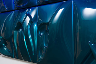 Patricia Piccinini Sunrise Glade (detail), 2020; ABS plastic and automotive paint; 150 x 200 cm; enquire