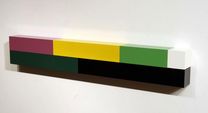 Michael Parekowhai Atarangi #7, 2004; two pot paint + aluminum; 20 x 130 x 10 cm; enquire