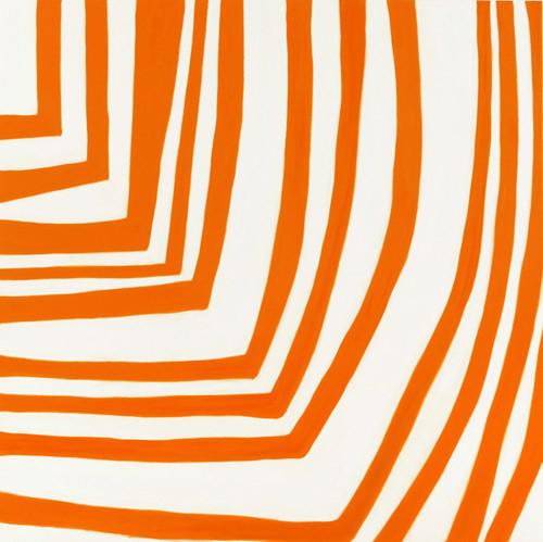 Angela Brennan Zinnabar Orange, 2005; oil on linen; 180 x 180 cm; enquire