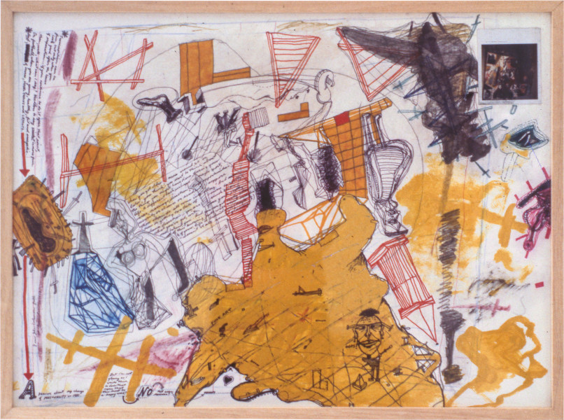 Gareth Sansom A drawing about my change of personality, 1981; mixed media on paper; 56.5 x 77 cm; enquire