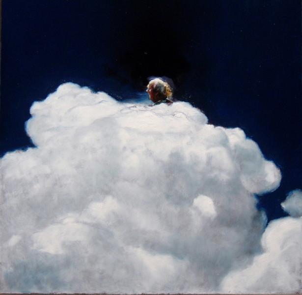 Louise Hearman Untitled #1112, 2005; oil on masonite; 55 x 56 cm; enquire