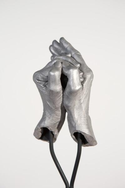 Julie Rrap Instrument: Hooting, 2015; cast aluminium and steel; 166 x 35 x 25 cm; Edition of 5 + AP 1; enquire