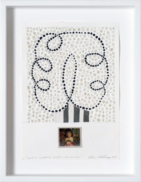 Rohan Wealleans Curly Whirly Shirly Sculpture, 2014; paint on paper, found lenticular print; 29.5 x 21 cm; enquire