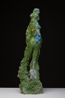 Linda Marrinon Golden woman, 2018; painted plaster; 72 x 21 x 16 cm; enquire
