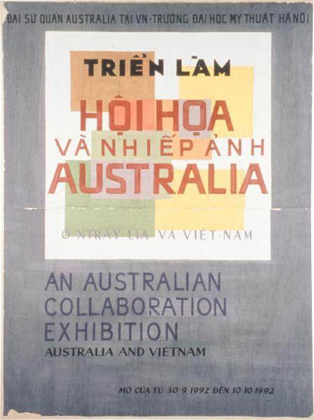 Geoff Lowe Trien Lam (Exhibition), 1992; lime wash on paper on canvas; 240 x 181 cm; enquire