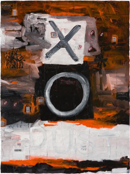 Fiona Hall EXODUST (III), 2020; oil paint on aluminium drink cans; 120 x 90 cm; Enquire