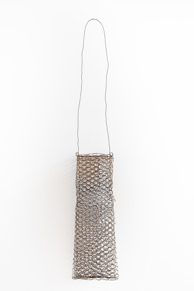 Lorraine Connelly-Northey Narrbong, 2019; CONNL - 0010; rusted rabbit-proof fencing wire; 176 x 18 x 12 cm; Enquire