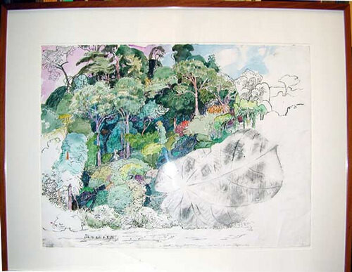 John Wolseley Where Tembeling and Tahan rivers meet, 2000; watercolour on paper; 57 x 76 cm; enquire