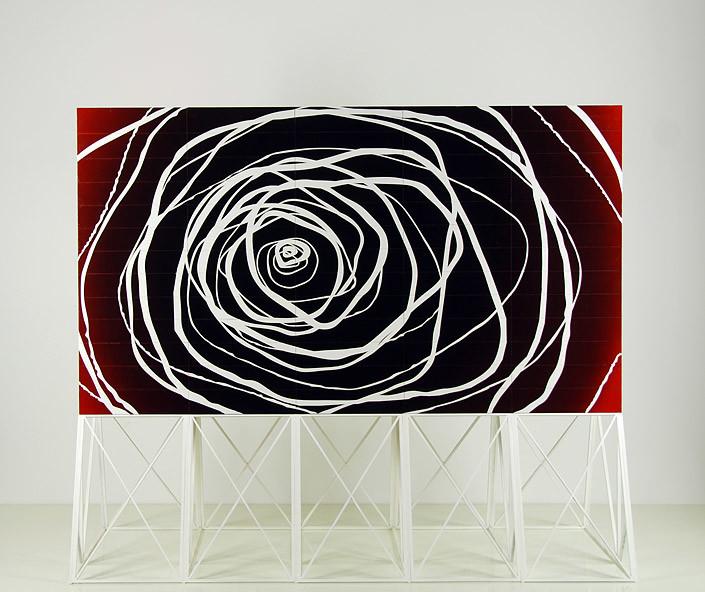 Callum Morton Screen # 17: Reverse Amnesia, 2011; wood, acrylic paint; 93 x 110 x 45.5 cm; table 88 x 115 x 49.5 cm; enquire