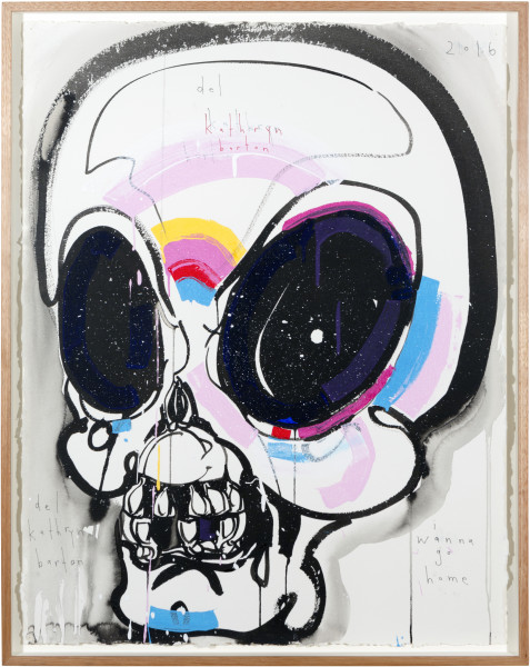 Del Kathryn Barton i wanna go home, 2016; archival ink and acrylic on paper; 81 x 63 cm; (framed); 76 x 56cm (paper size); enquire