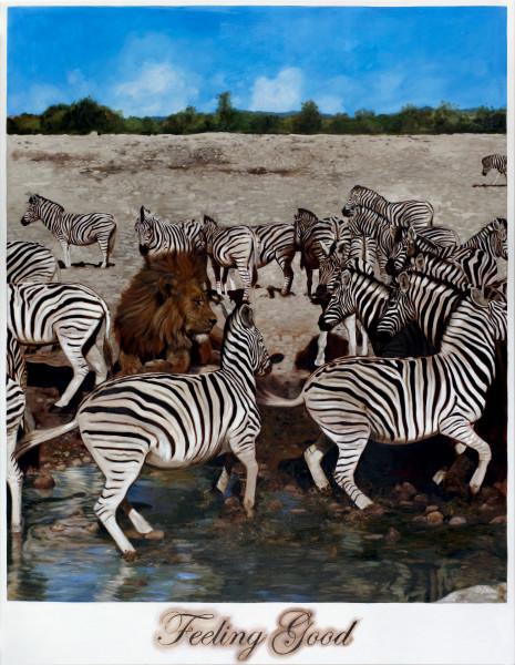 Daniel Boyd Feeling Good, 2009; oil on canvas; 256.5 x 198 cm; enquire