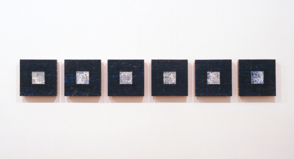 Jurek Wybraniec Prologue 2, 1993; enamel and beeswax on hardboard; 30 x 180 cm; enquire