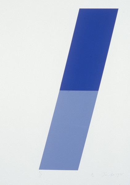 Robert Jacks Top, Bottom, 1975; silkscreen print; sheet 66.3 x 51 cm, image 51.2 x 12.8 cm; enquire